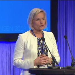 Anna Wieslander, Director for Northern Europe Atlantic Council i diskussion om EU, Nato och vår gemensamma säkerhet. Folk och Försvar 14/1.