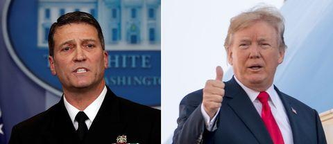 Vita husets läkare Ronny Jackson och USA:s president Donald Trump