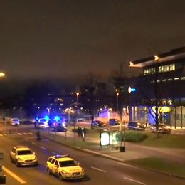 Avspärrningar runt polishuset i Rosengård