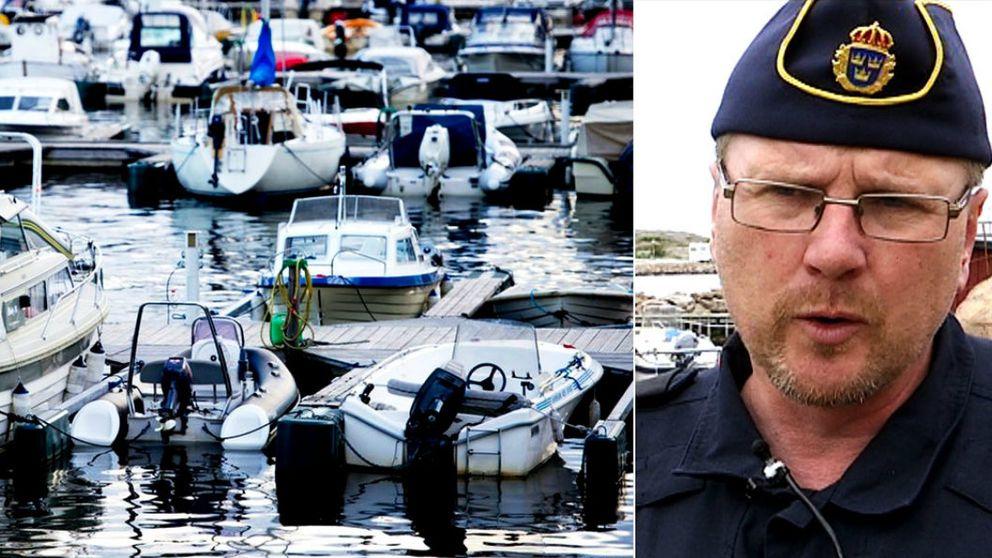 Polisen varnar för båtstöldliga i Väst.Till höger Thomas Andersson, samordnare för polisens båtsamverkan.
