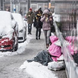 Tiggare i snöväder.