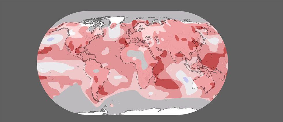 Temperaturavvikelse januari – november.