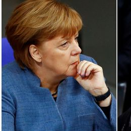 Angela Merkels CDU och Martin Schulz Socialdemokrater