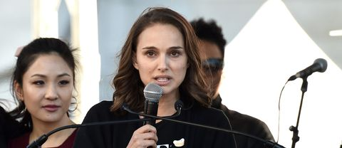 Natalie Portman talade på Women's March i Los Angeles under lördagen.