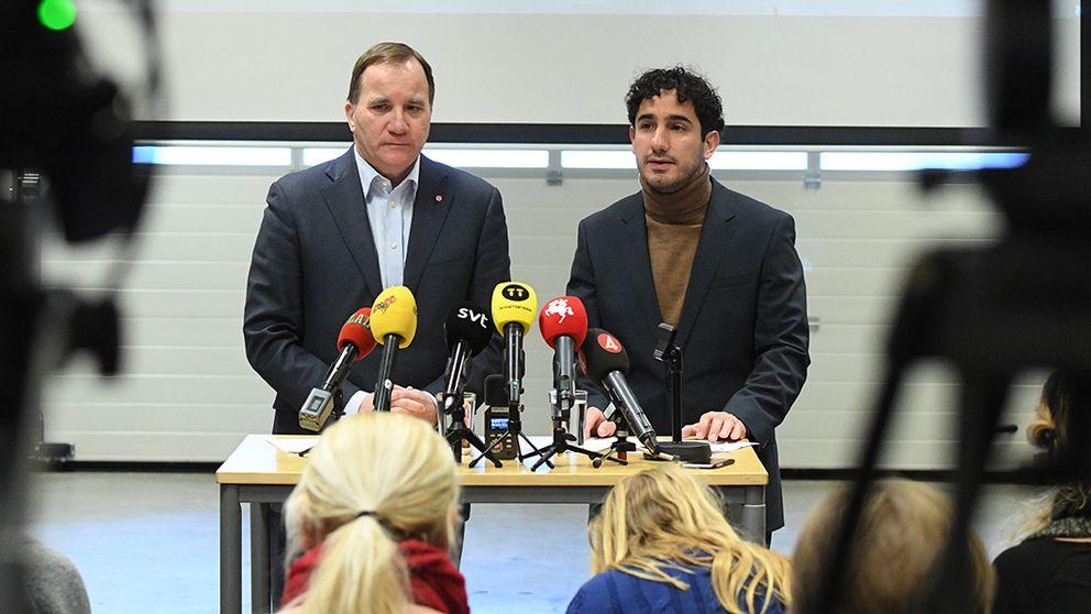 Statsminister Stefan Löfven och civilminister Ardalan Shekarabi presenterar utlokalisering av myndigheter
