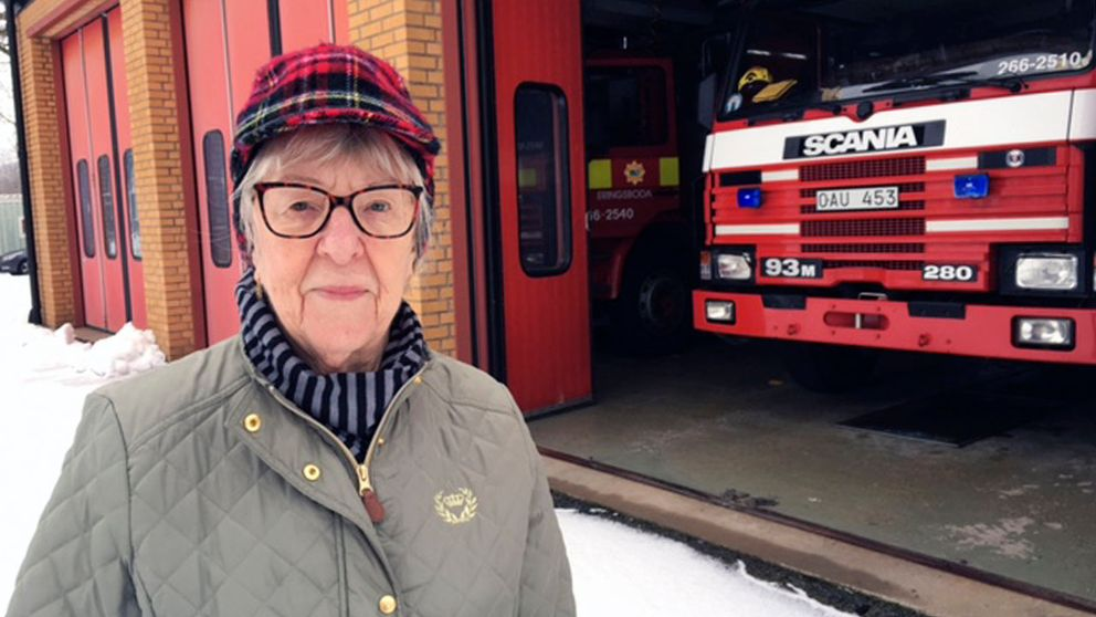 Margit Nilsson är orolig för vilka konsekvenser det kommer att få när deltidsbrandkåren försvinner från Eringsboda.