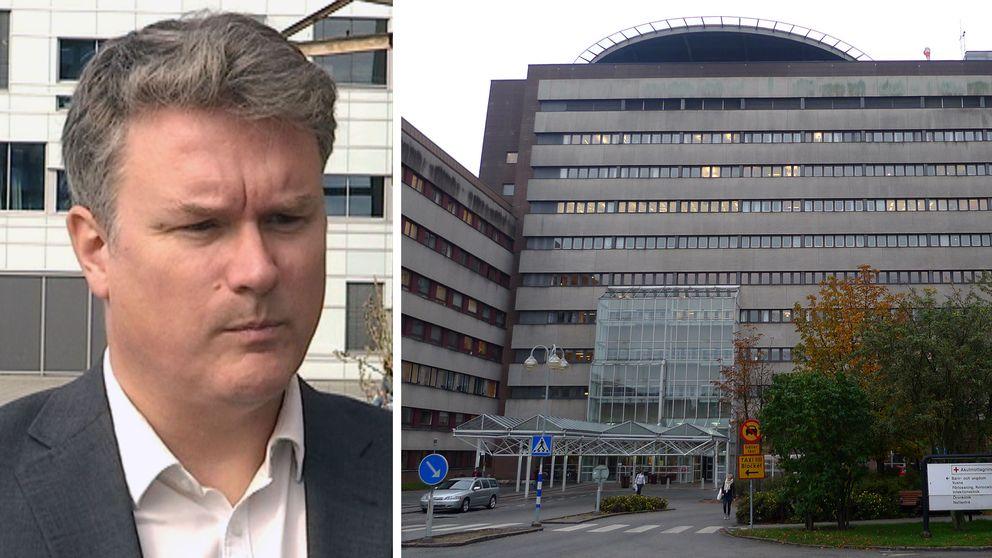 Joakim Sandell (S), ordförande i sjukvårdsnämnd SUS.