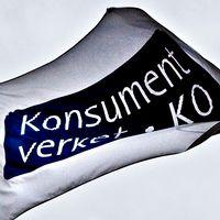 Flagga med Konsumentverkets logga