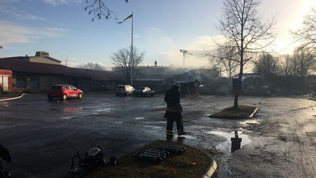 Flera till sjukhus efter brand pa aldreboende