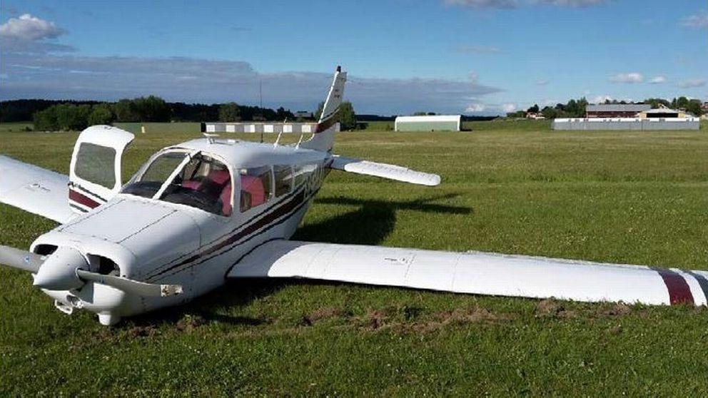 Det kraschade motorflygplanet