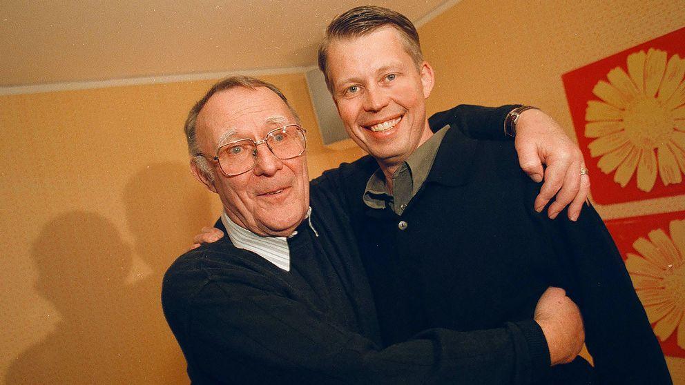 Den 22 mars 1999. Ingvar Kamprad med Ikeas nye koncernchef, 42-årige Anders Dahlvig.
