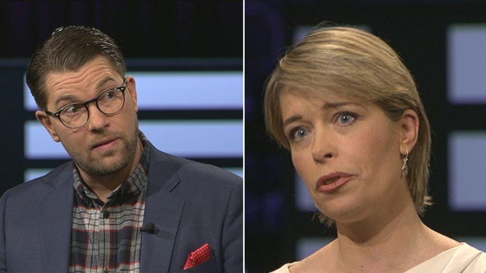 Jimmie Åkesson och Annika Strandhäll i Agenda