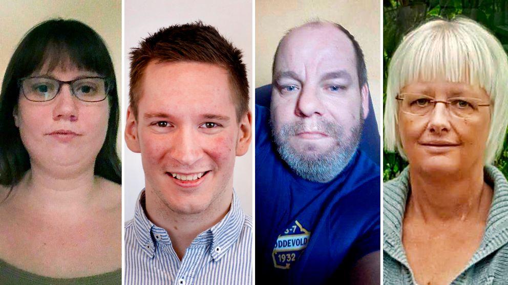 Malin Nilsson, Daniel Göransson, ThomasKarlssonfrånVänersborg, och Annika Johansson har alla olika funktionsnedsättningar och berättar om hur hinder gör att de i vissa fall väljer bort internet