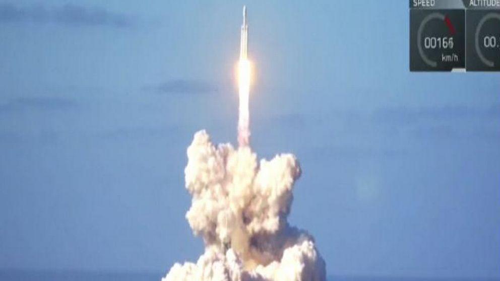 Rymdraketen Falcon Heavy.