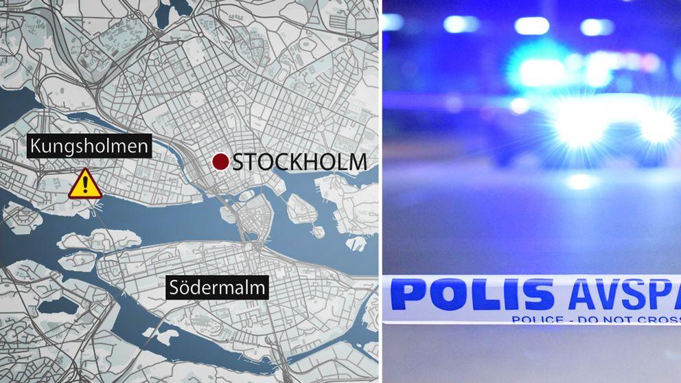 Olyckan inträffade nära Rålambshovsparken, på Kungsholmen i Stockholm