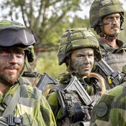 Svenska soldater vid militärövningen Aurora 17.