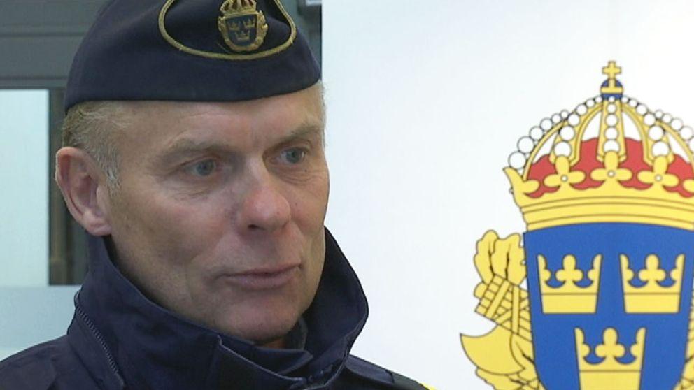 Sven Holgersson, lokalpolisområdeschef, hoppas få in tips om skjutningen