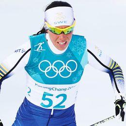 Charlotte Kalla körde hem ett silver till Sverige.