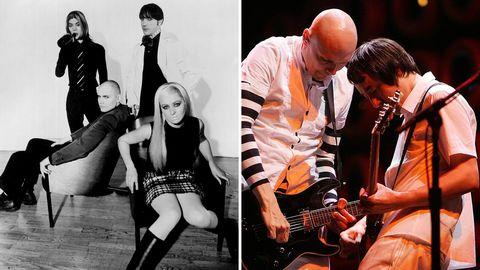 Smahing Pumpkins 1996 och senare på scen.