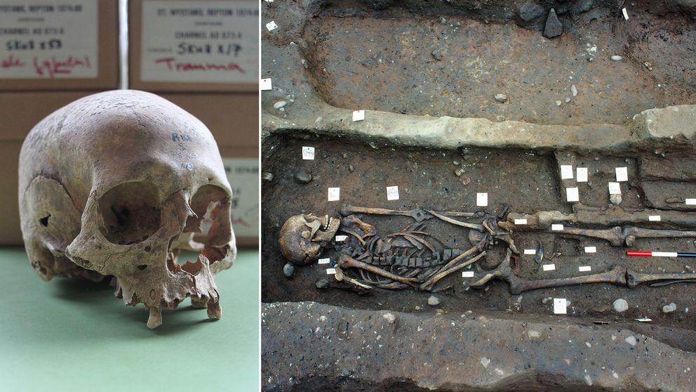 Skelettdelarna tyder på att vikingarna gick en våldsam död till mötes