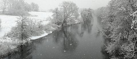 Säveån, Göteborg, 19 feb.