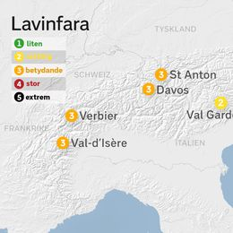 Det råder stor lavinfara på många håll i Alperna.
