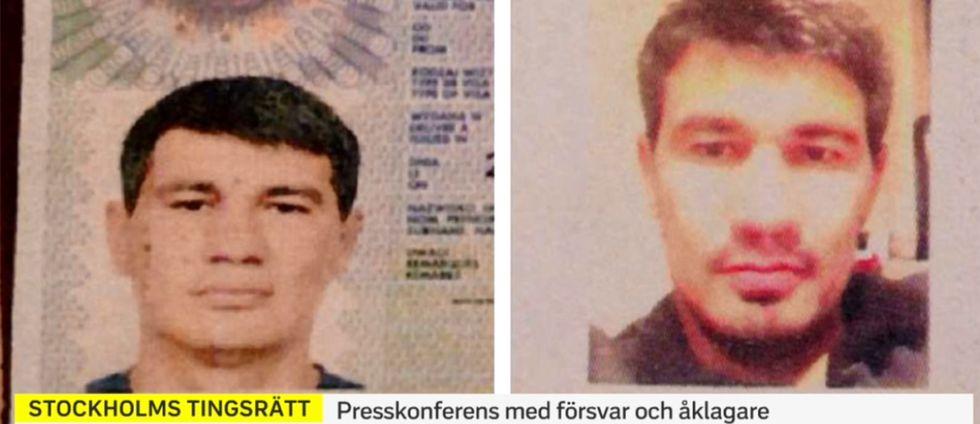 Bilder från terrormisstänkte Rakhmat Akilov från polisens förundersökning.