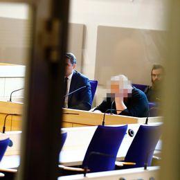 24-åringen som misstänks för dubbelmordet i Mantorp under häktningsförhandlingen i Linköpings tingsrätt på måndagen den 18 september 2017.