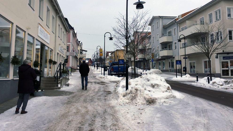 Torsby centrum vinter