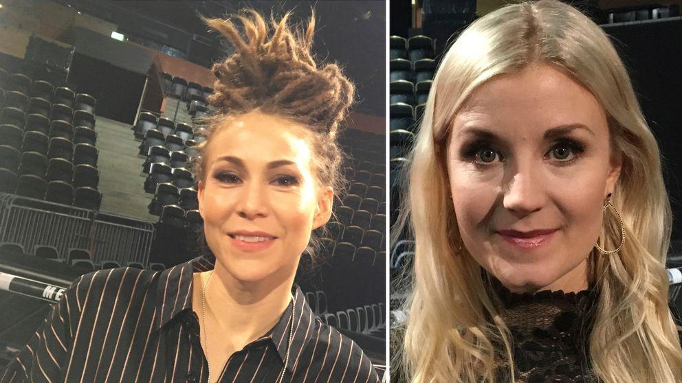 De halländska artisterna Mariette Hansson och Emmi Christensson.