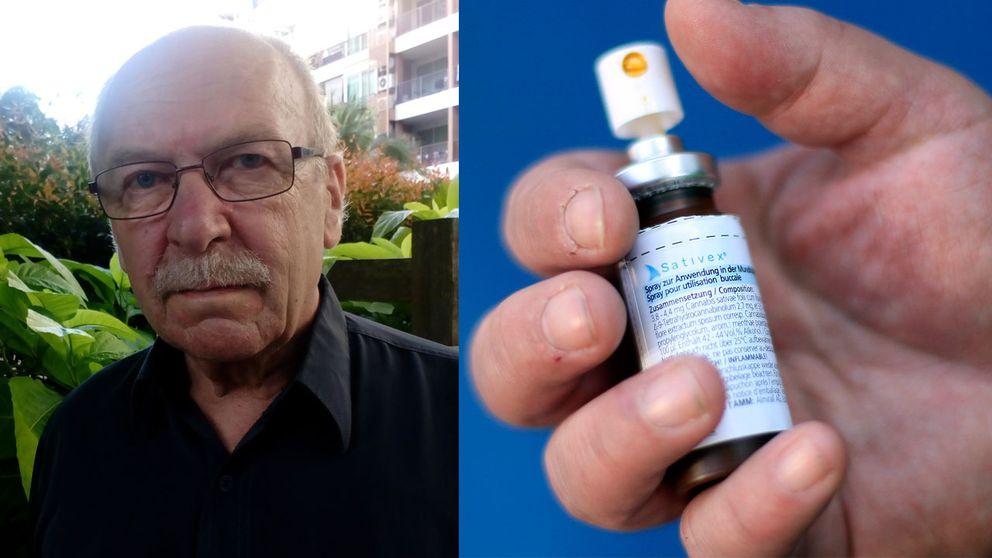 Sixten Arozenius, överläkare, har skrivit ut Sativex somär det enda godkända svenska läkemedlet gjort av medicinsk cannabis.