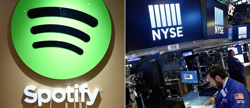 Spotify vill in på New York-börsen, New York Stock Exchange.