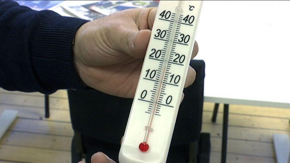 Folkhälsomyndigheten rekommenderar minst 20 grader inomhus