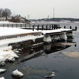 Lite av en arktisk vinterkänsla så här i Stumholmen i Karlskrona, Blekinge den 4 mars.