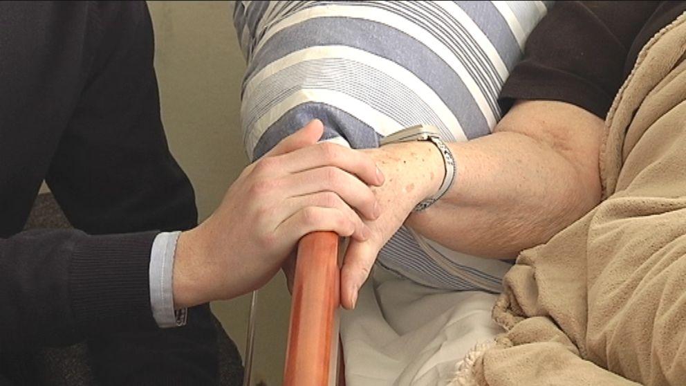 palliativ vård, sjukhus, händer