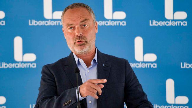 Liberalernas ledare Jan Björklund håller pressträff i Almedalen 2017.