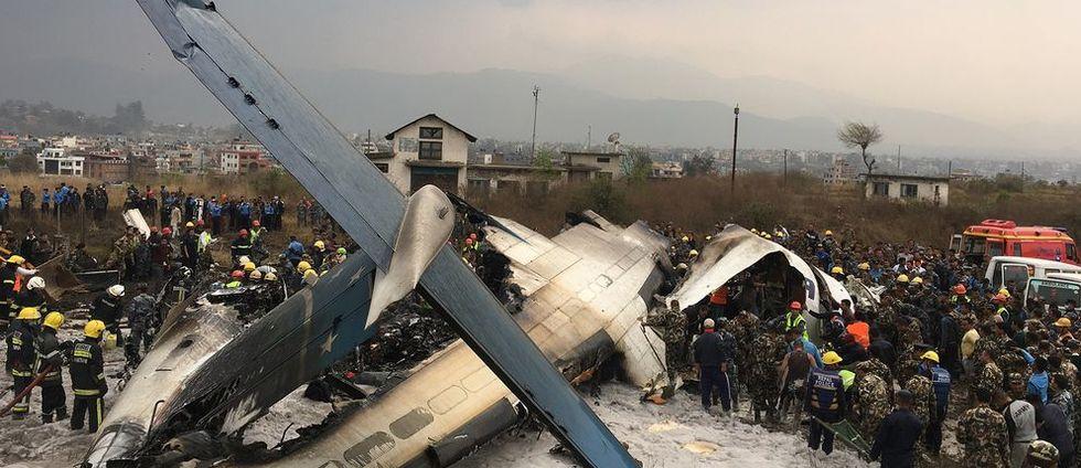 Flygplan har kraschat i Nepal – många befaras döda