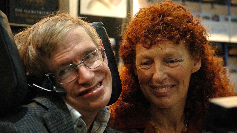 Stephen Hawking och hans fru Elaine i oktober 2005.