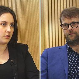 Sara Gunnarsson och Kenneth Johannesson debatterar lärarbristen