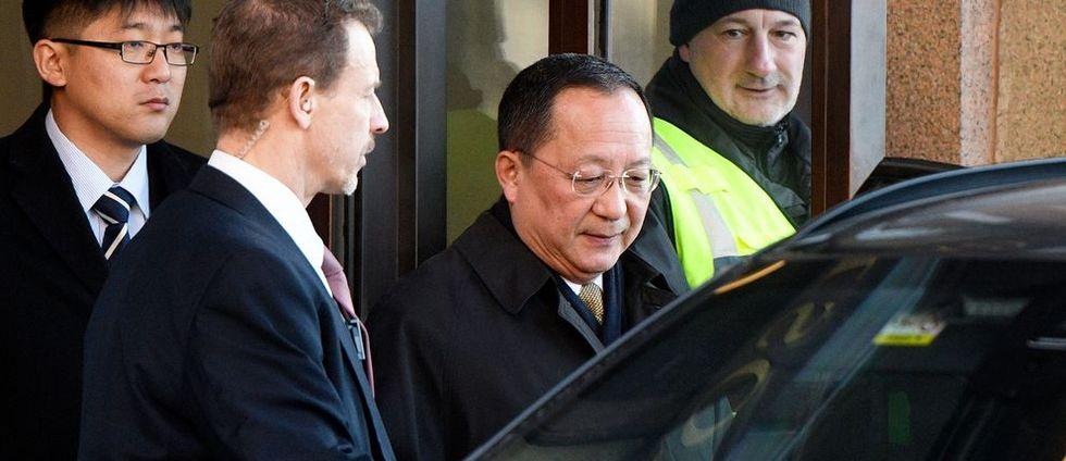 Stefan Löfven träffade Nordkoreas utrikesminister