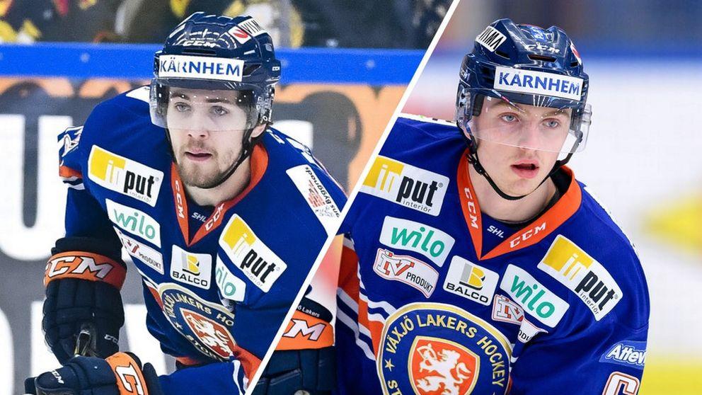 Arvid Lundberg och Linus Högberg i Växjö Lakers