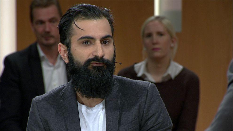 Hanif Bali (M) medverkar i Opinion live den 26 oktober 2017.
