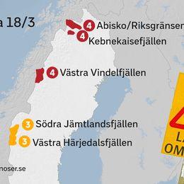 Lavinprognos för söndag 18/3-18