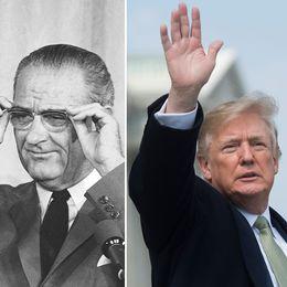 Dwight Eisenhower (till vänster) har besökt Sofiero, likaså vicepresidenten Lyndon B Johnson. Blir Donald Trump den tredje presidenten på besök?