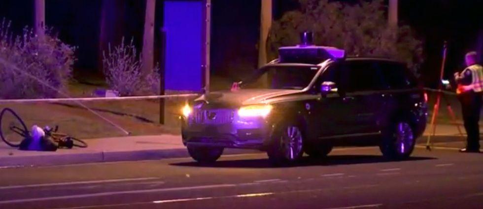 Bilen som användes vid olyckan var en självkörande Uber-taxi av modell Volvo XC90.