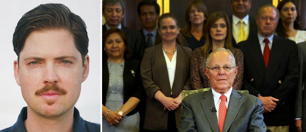 Perus avgående president Pedro Pablo Kuczynski (till höger) är huvudpersonen i en mycket genant såpoperaliknande historia, analyserar SVT:s Latinamerikareporter Tigran Feiler.