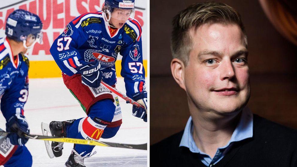 Per Kenttä, sportchef i IK Oskarshamn säger att det råder hockeyfeber i Oskarshamn för närvarande.