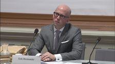 Förre statssekreteraren Erik Bromander bekräftar att han fick information på ett tidigt stadium i torsdagens KU-förhör.