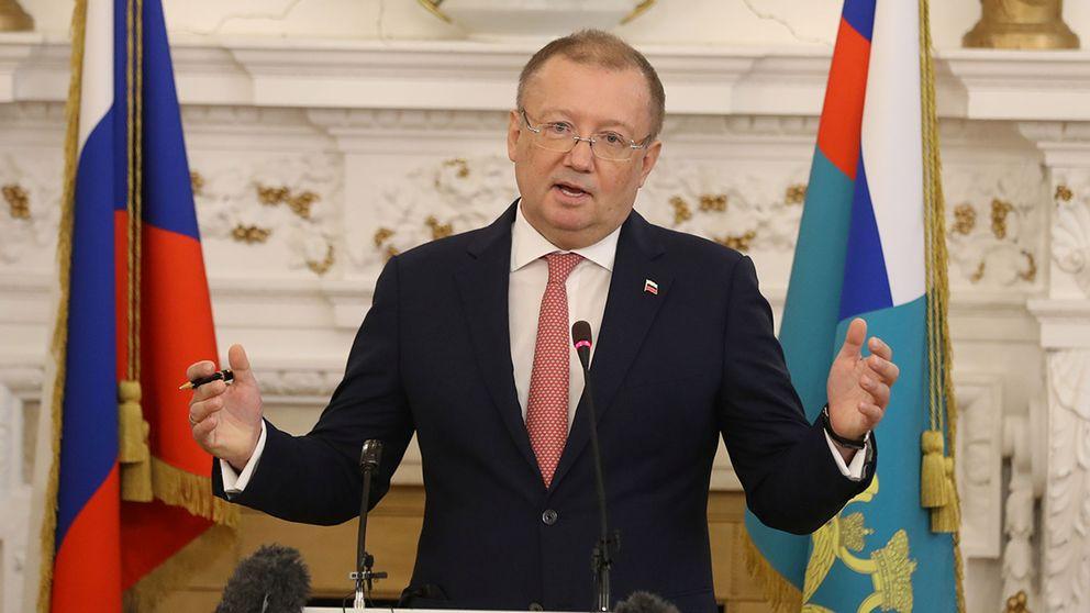 Rysslands ambassadör i Storbritannien, Alexander Yakovenko, på en presskonferens på torsdagen.