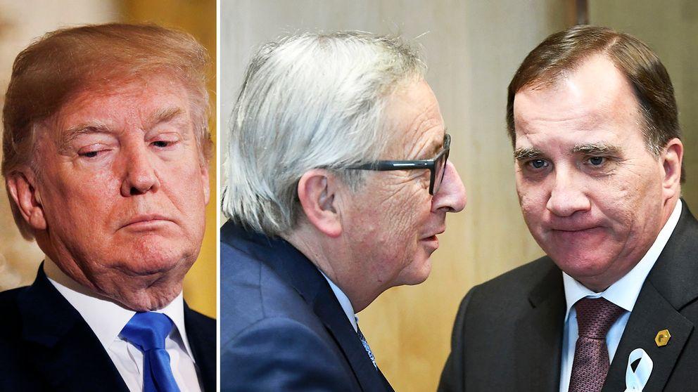 USA:s president Donald Trumps tullar på stål och aluminium träder i kraft på fredagen, något som statsminister Stefan Löfven hoppas att Sverige och EU kan undantas från.